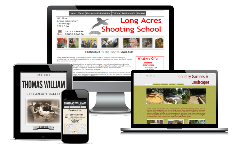 Rural Web design in Fakenham Norfolk